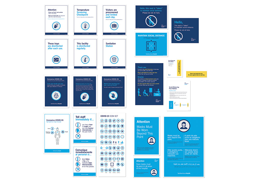 COVID-19 Communications by Yale New Haven Health Creative Team