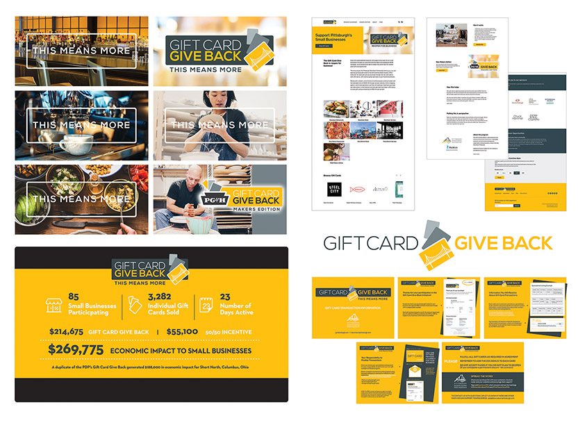 Gift Card Give Back To Support Small Businesses by Pittsburgh Downtown Partnership