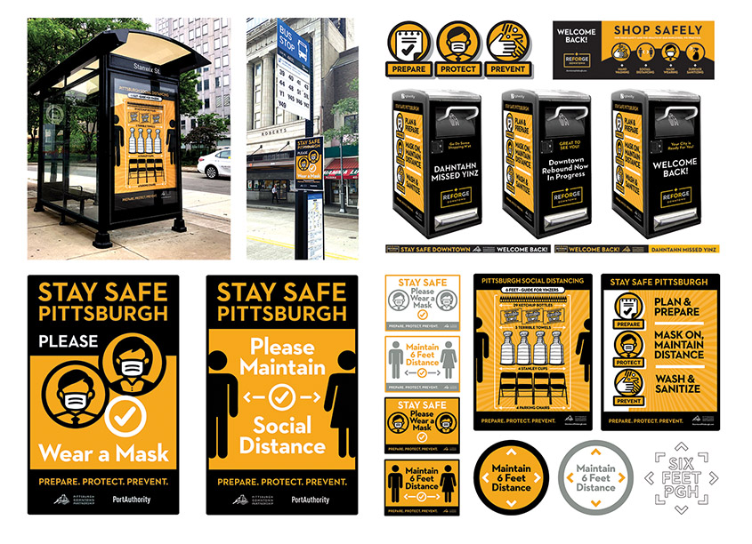Stay Safe Pittsburgh Covid-19 Communications by Pittsburgh Downtown Partnership