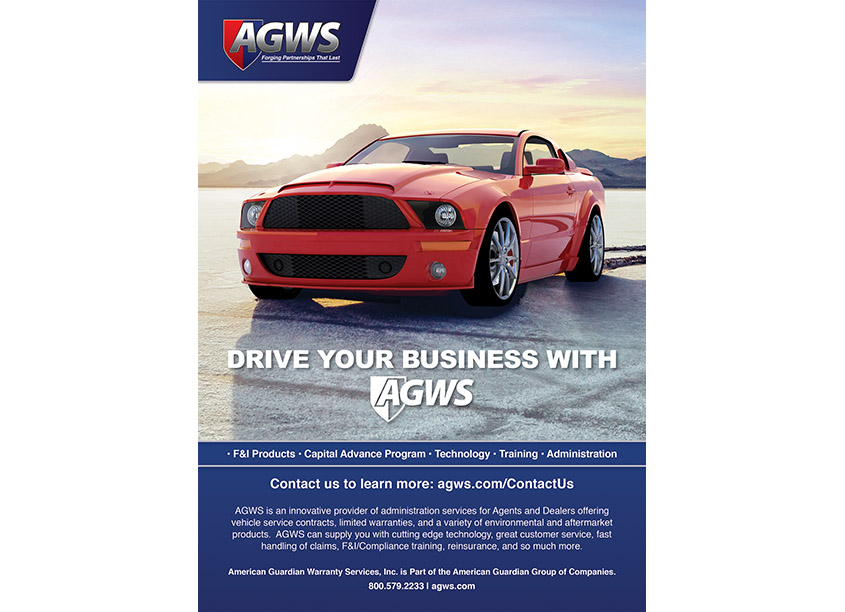 Drive Your Business With AGWS Magazine Advertisement by American Guardian Warranty Services (AGWS)