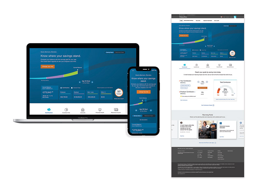 T. Rowe Price Workplace Homepage Redesign