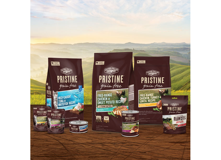 Castor & Pollux Pristine Pet Food Packaging by Enlisted Design
