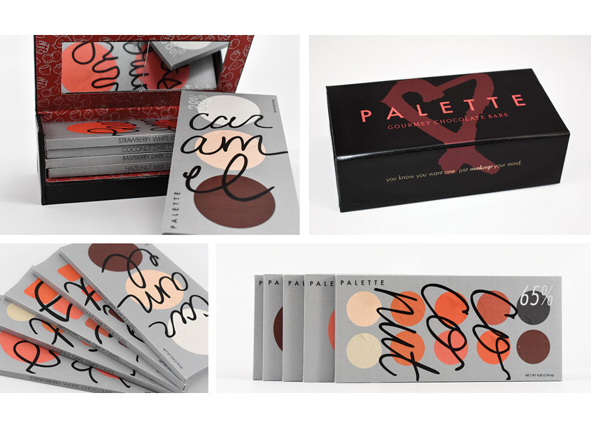 Chocolate Bar Packaging by School: Auburn University College of Architecture, Design and Co