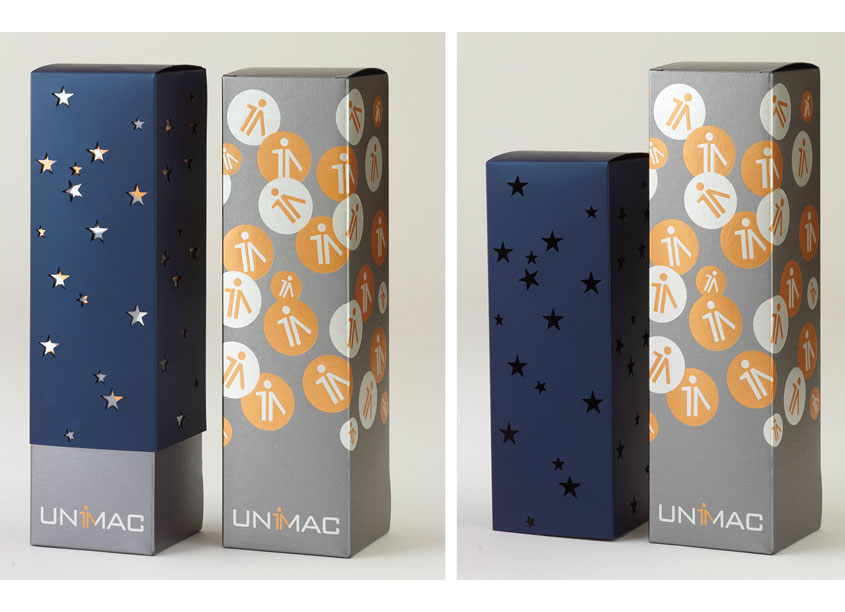 Unimac Holiday Wine Box with Sleeve by Bonavita Design LLC