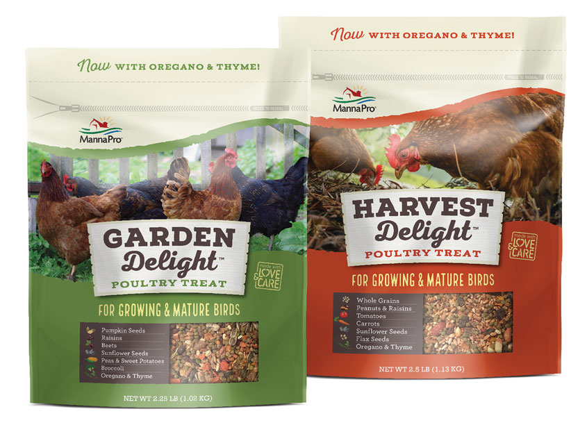 Garden Delight™ and Harvest Delight™ Poultry Treats by Brian Schultz Design
