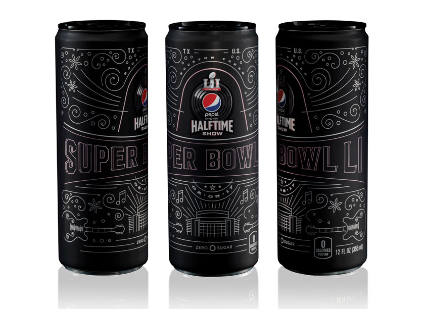 Pepsi Zero Sugar Super Bowl LI Halftime Show Commemorative Can by PepsiCo Design & Innovation