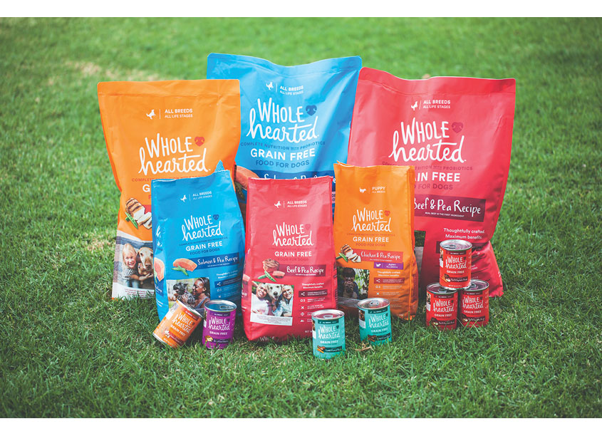 WholeHearted Dog Food Packaging by Bulldog Drummond