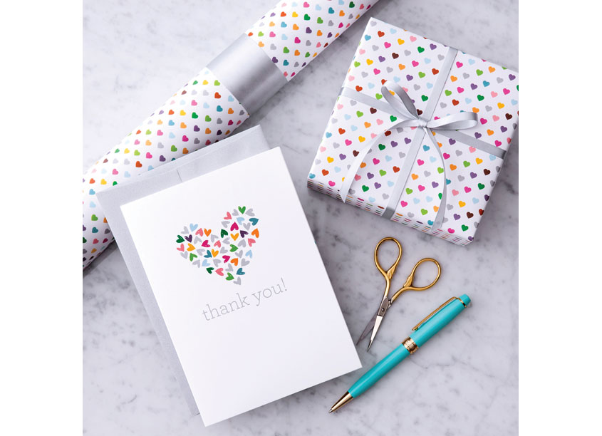 Colorful Hearts Giftwrap by Design With Heart