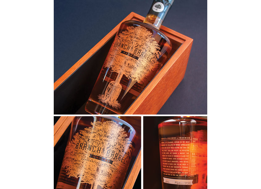 Branch & Barrel Whiskey by Ellen Bruss Design