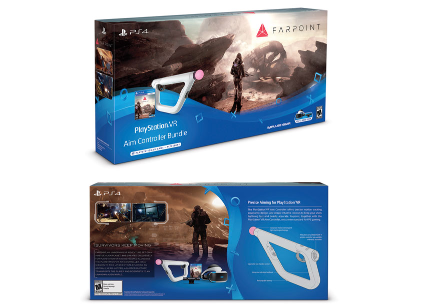 Sony Interactive Entertainment America (SIEA) Creative Design Gr Farpoint Aim Controller Bundle