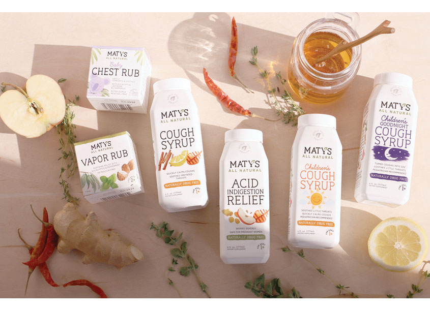 Maty's Healthy Products Package Design by Haberman