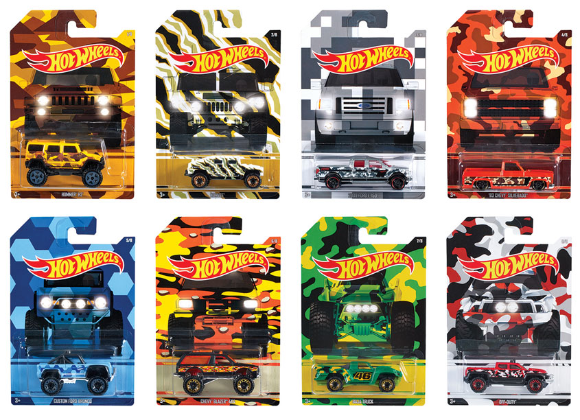 Hot Wheels® Camo Trucks by Mattel, Inc.