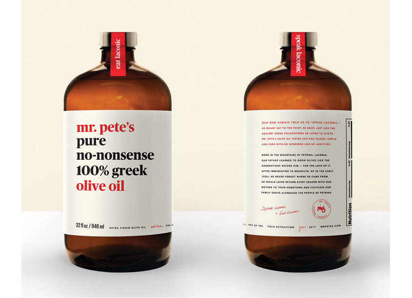 Mr. Pete's Olive Oil by Marine Lane