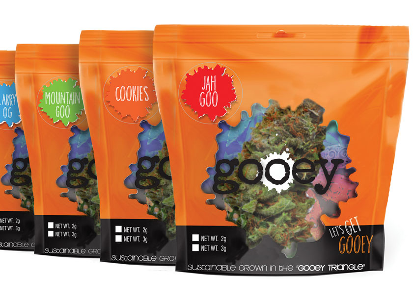 Gooey Cannabis Packaging by McDill Associates