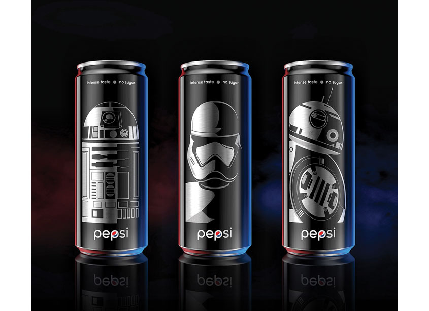 Pepsi Black x Star Wars Limited Edition Cans CHINA by PepsiCo Design & Innovation