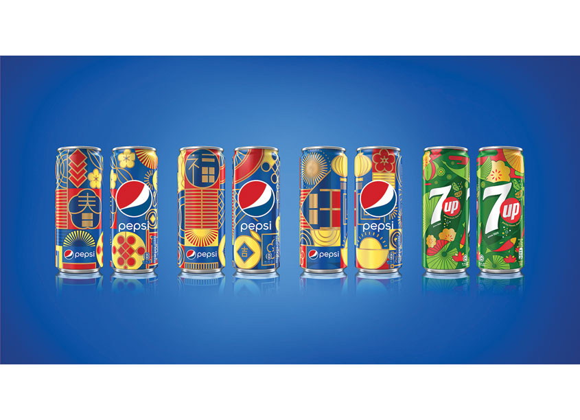 Pepsi x 7Up CNY Limited Edition Cans CHINA by PepsiCo Design & Innovation
