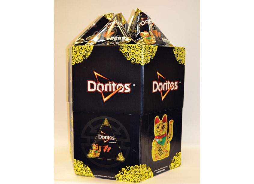 Doritos Hexagonal Display by ProAmpac