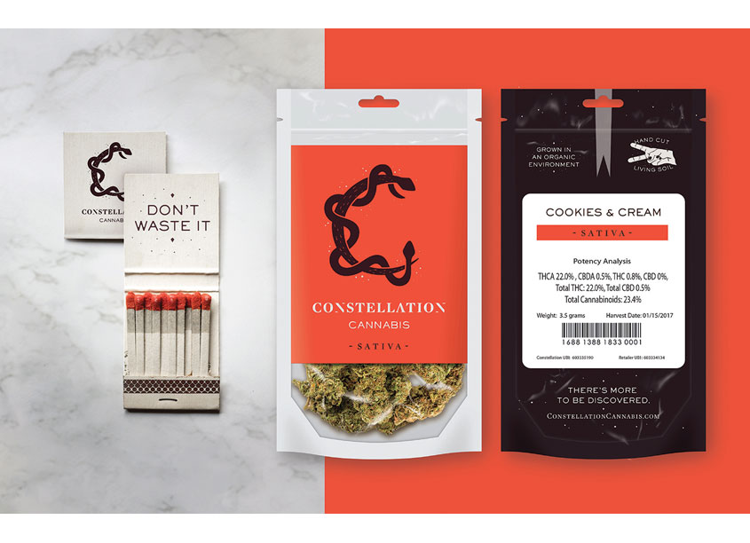 Constellation Cannabis Branding and Packaging by Hornall Anderson