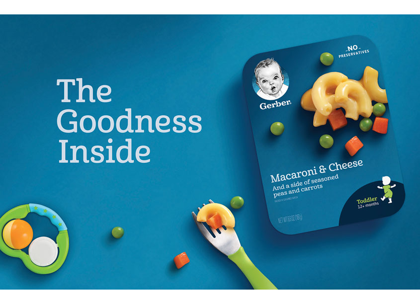 Gerber Lil' Entrees Branding and Packaging by Hornall Anderson