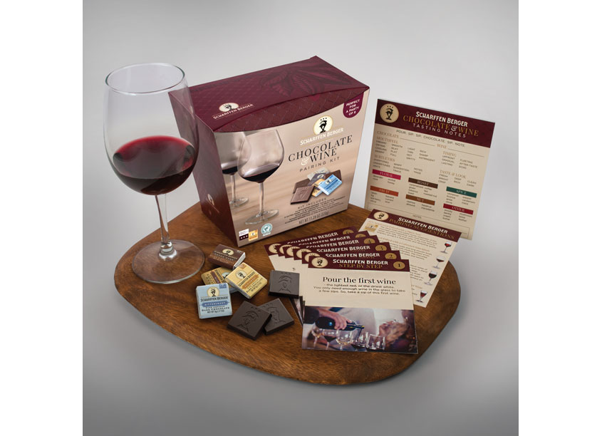 Scharffen Berger Chocolate & Wine Pairing Kit by William Fox Munroe (WFM)