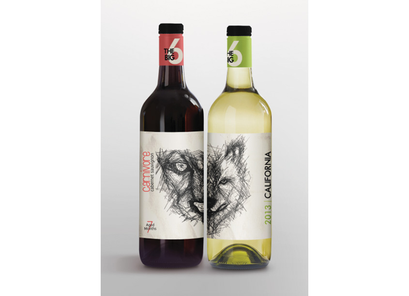 Carnivore Wine Label Packaging by School: Woodbury University