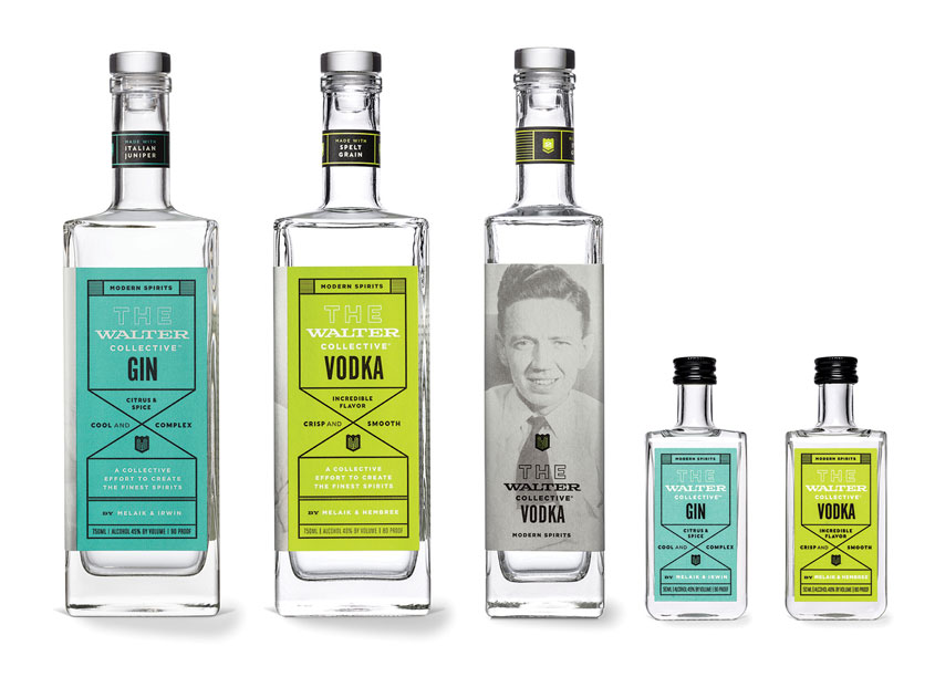 The Walter Collective Vodka and Gin by Sally Morrow Creative