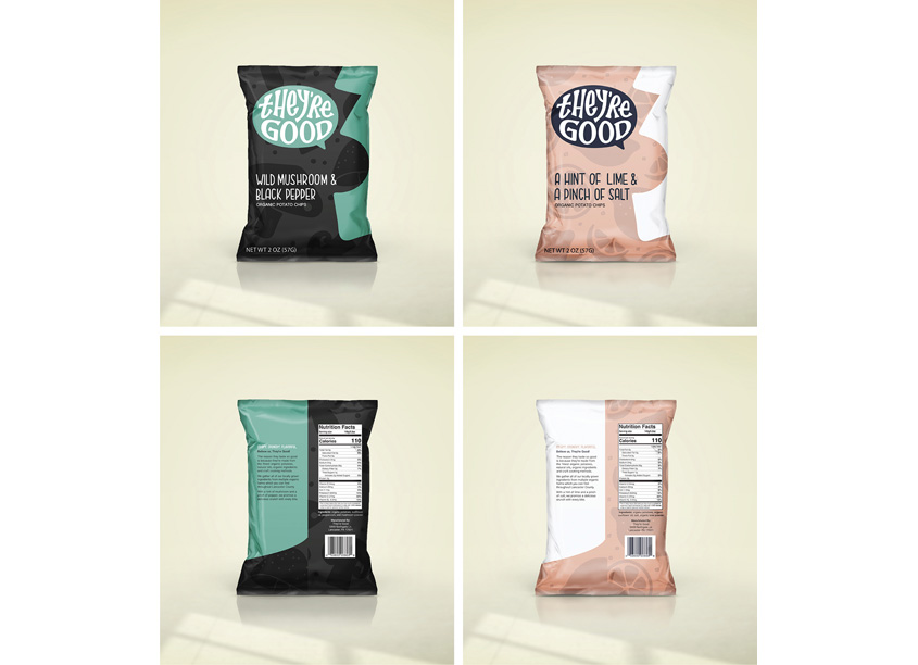 They're Good Potato Chips Packaging by School: Pennsylvania College of Art & Design (PCAD)