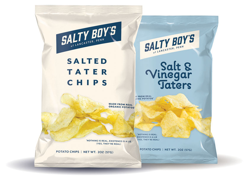 Salty Boy's Tater Chips by School: Pennsylvania College of Art & Design (PCAD)