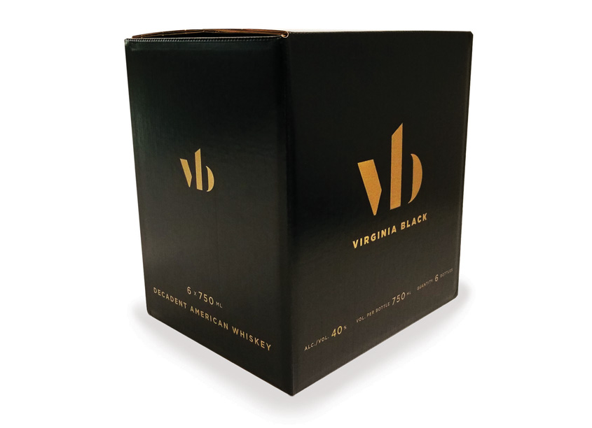 Proactive Packaging & Display Virginia Black Decadent American Whiskey