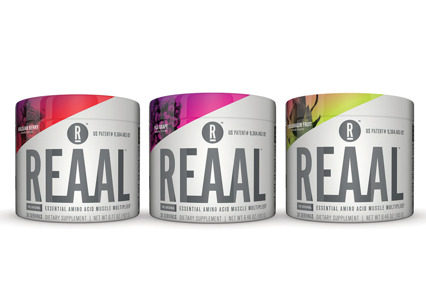 REAAL - Essential Amino Acids - Brand Identity & Packaging by Andon Guenther Design, LLC