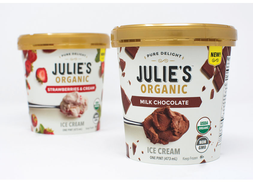 Retail Voodoo Julie's Organic Ice Cream Packaging