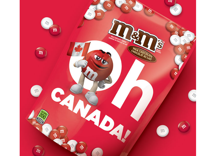 M&Ms Special Edition for Canada 150 by Bridgemark