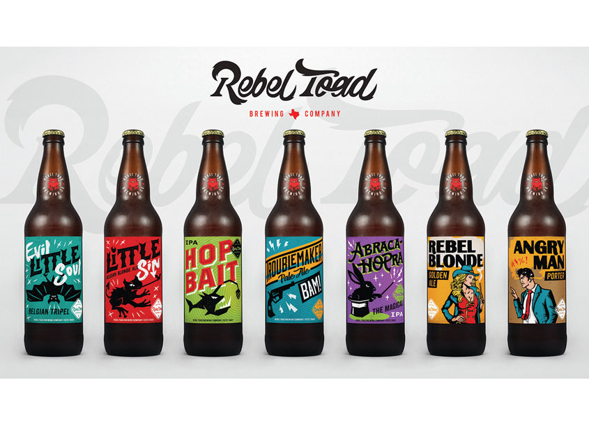 Rebel Toad Beer Labels by T. Barnes Graphics