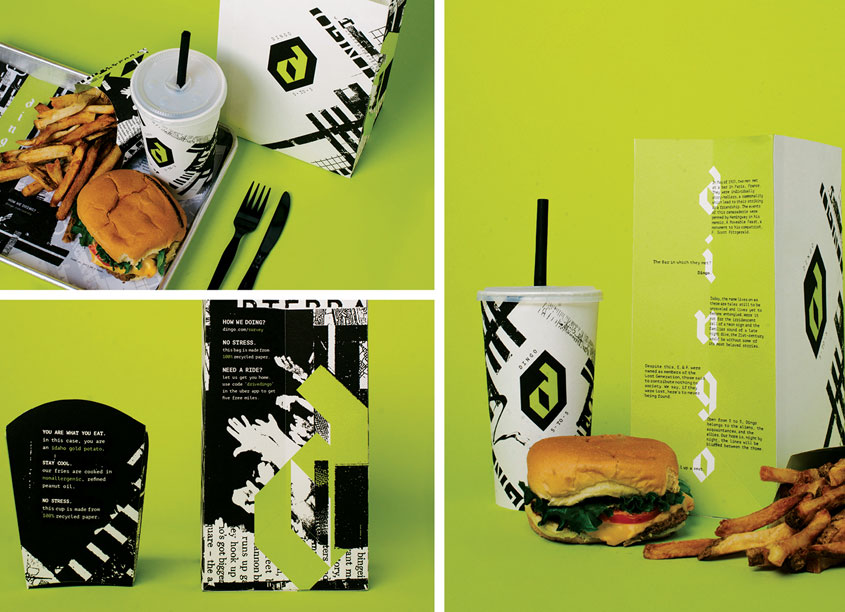 School: Auburn University School of Industrial + Graphic Design Dingo Fast Food Packaging
