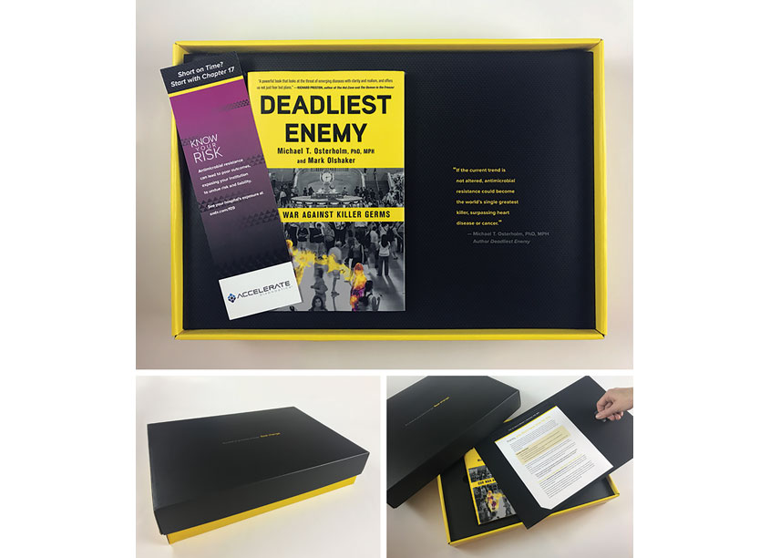 Deadliest Enemy Direct Mail Packaging by The Caliber Group