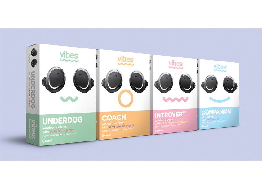 Vibes Electronics Wireless Earbuds by Pennsylvania College of Art & Design