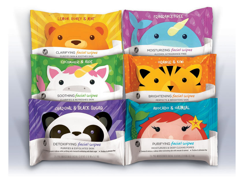 K-Beauty Animal Facial Wipes by Cuticone Design