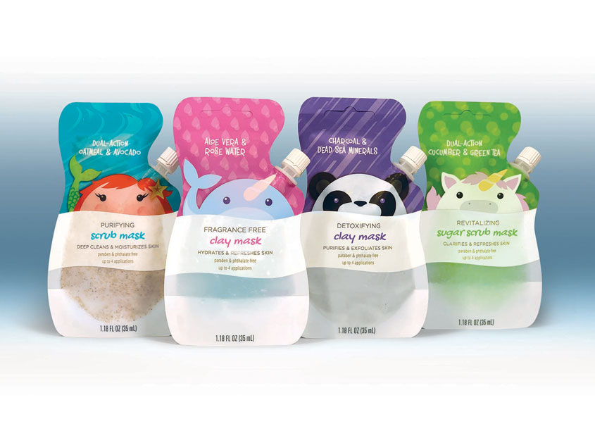 K-Beauty Animal Spout Masks by Cuticone Design
