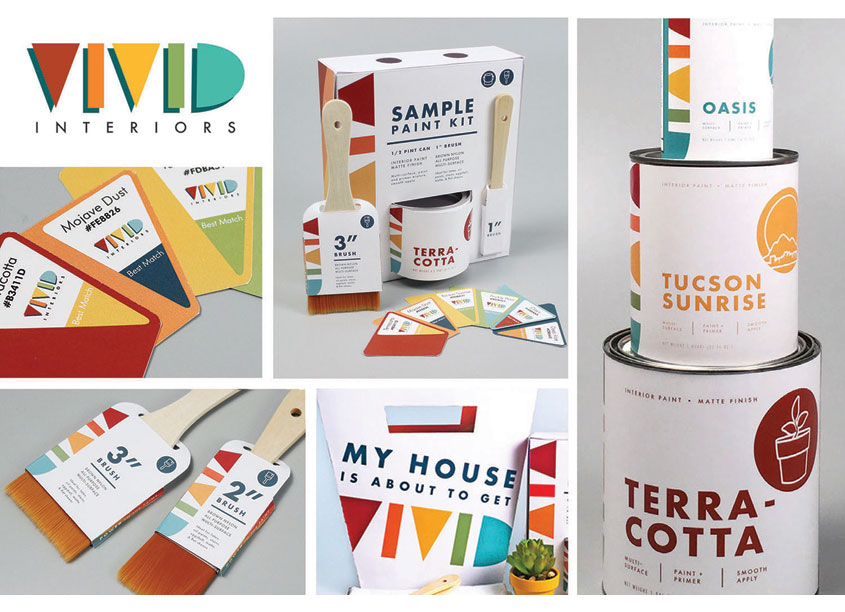 Vivid Interiors Paint Branding by Kennesaw State University School of Art & Design