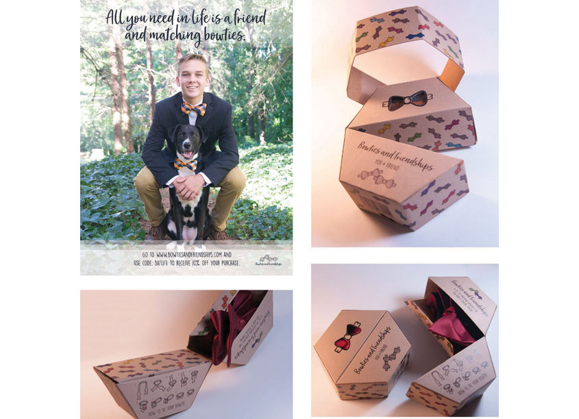 Bowties & Friendships My Friend and I Package Design by Kennesaw State University School of Art & Design