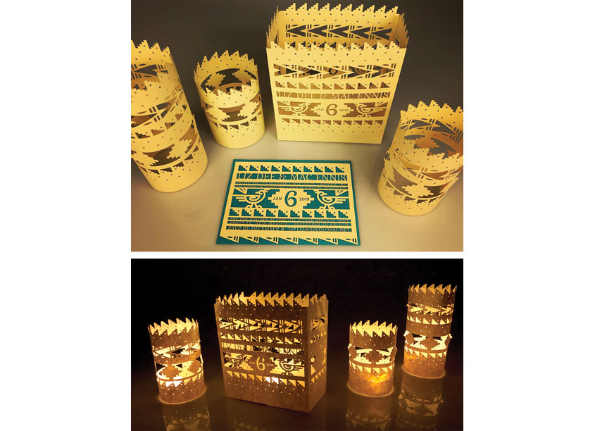 Luminarias, Candle Holders, and Invitations by Meaghan A. Dee