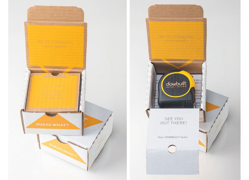 Tape Measure Promotional Box by Hybrid3 a design studio