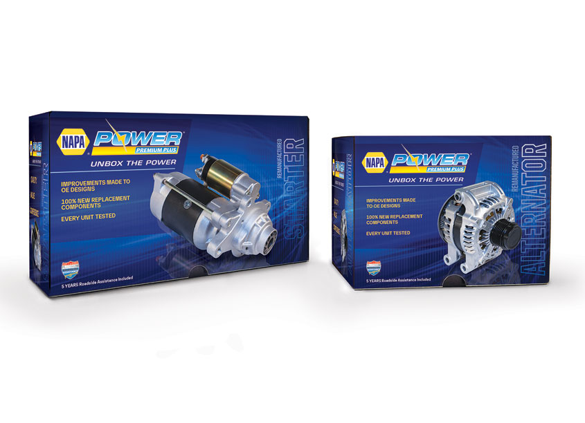 TFI Envision, Inc. NAPA® Power Premium Plus Trilingual Packaging for Alternators and Starters