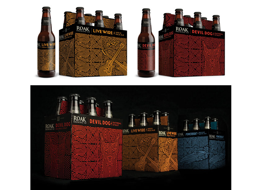 EBBING Branding + Design Roak Brewing Co. Bottle Series