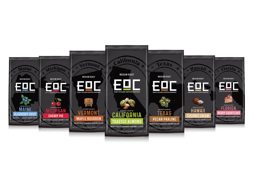 EOC Flavors of America Coffee by Barnett Design