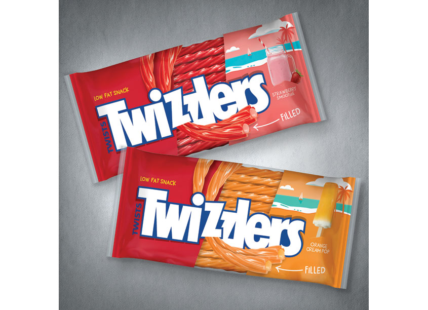Twizzler Summer Smoothie Twists Packaging by WFM