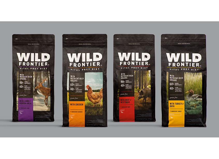 Wild Frontier Specialty Pet Food Package Design by clarkmcdowall