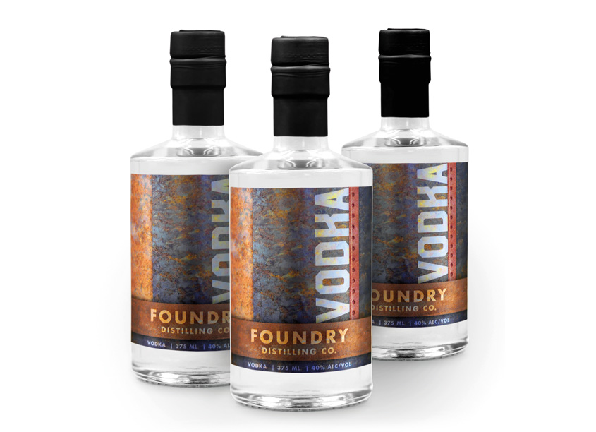 Foundry Distilling Company Vodka by Meyocks