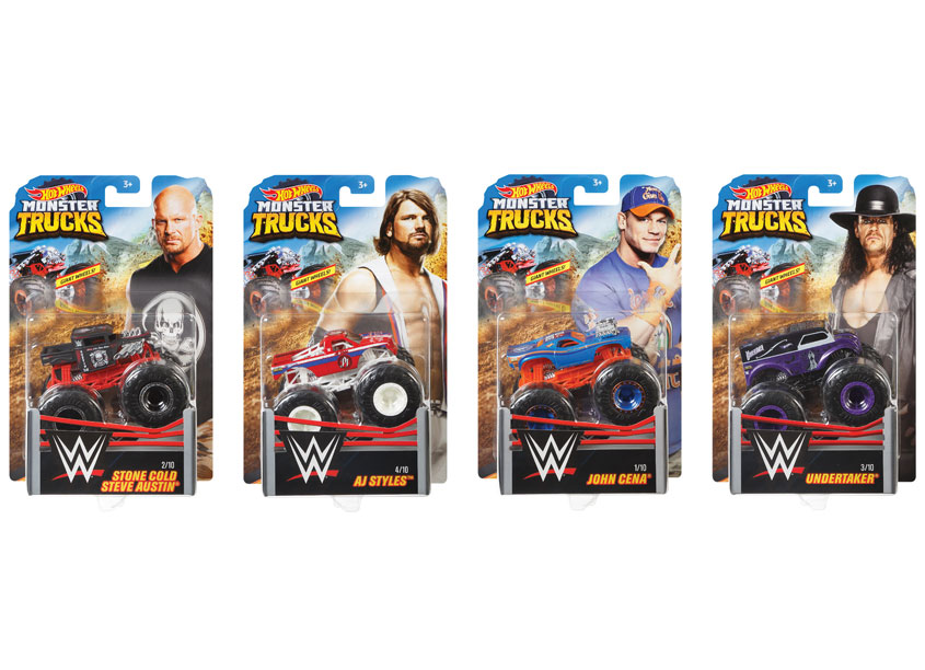 Mattel/Hot Wheels Hot Wheels® Monster Trucks Themed WWE Assortment