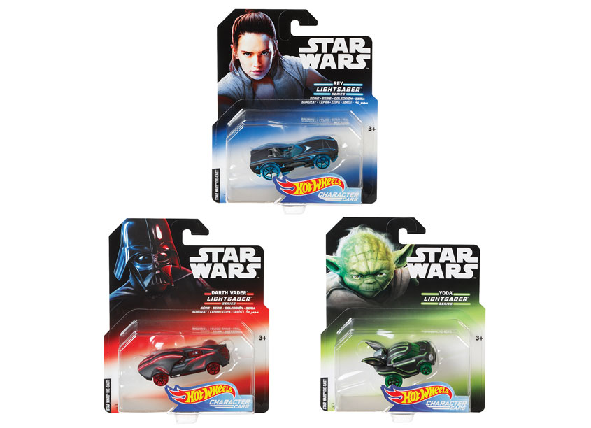 Mattel/Hot Wheels Hot Wheels® Star Warsr Lightsaber Character Car Series